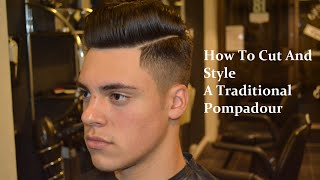 POMPADOUR SIDE PART || BARBER TUTORIAL ||