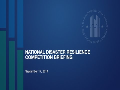 National Disaster Resilience Competition Briefing