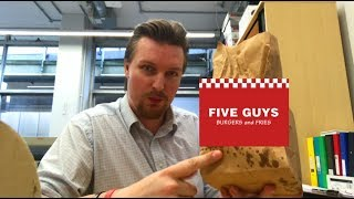 Trying Five Guys Burgers and Fries for the first time