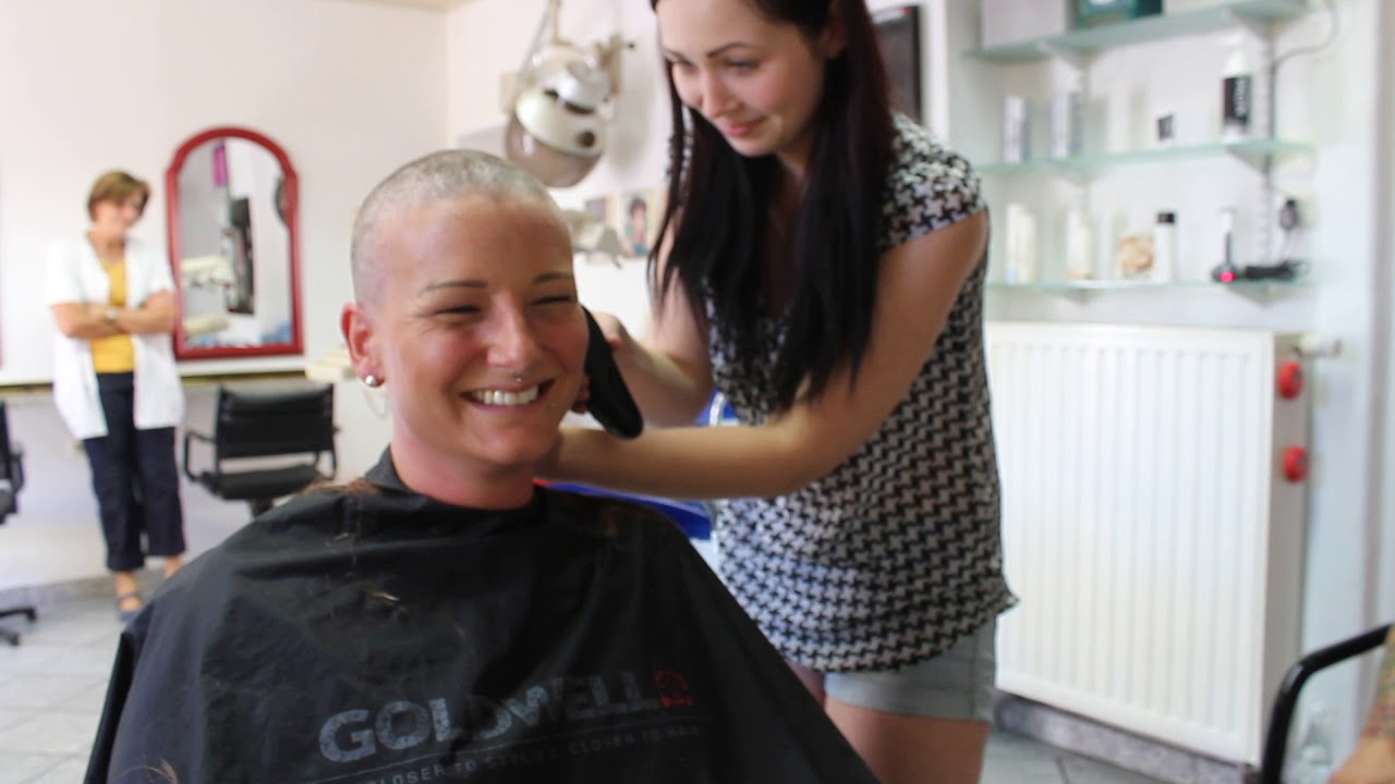 Lange Haare Abrasieren Headshave F Cancer Youtube