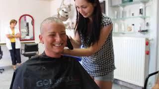 Lange Haare abrasieren - Headshave - F*** Cancer
