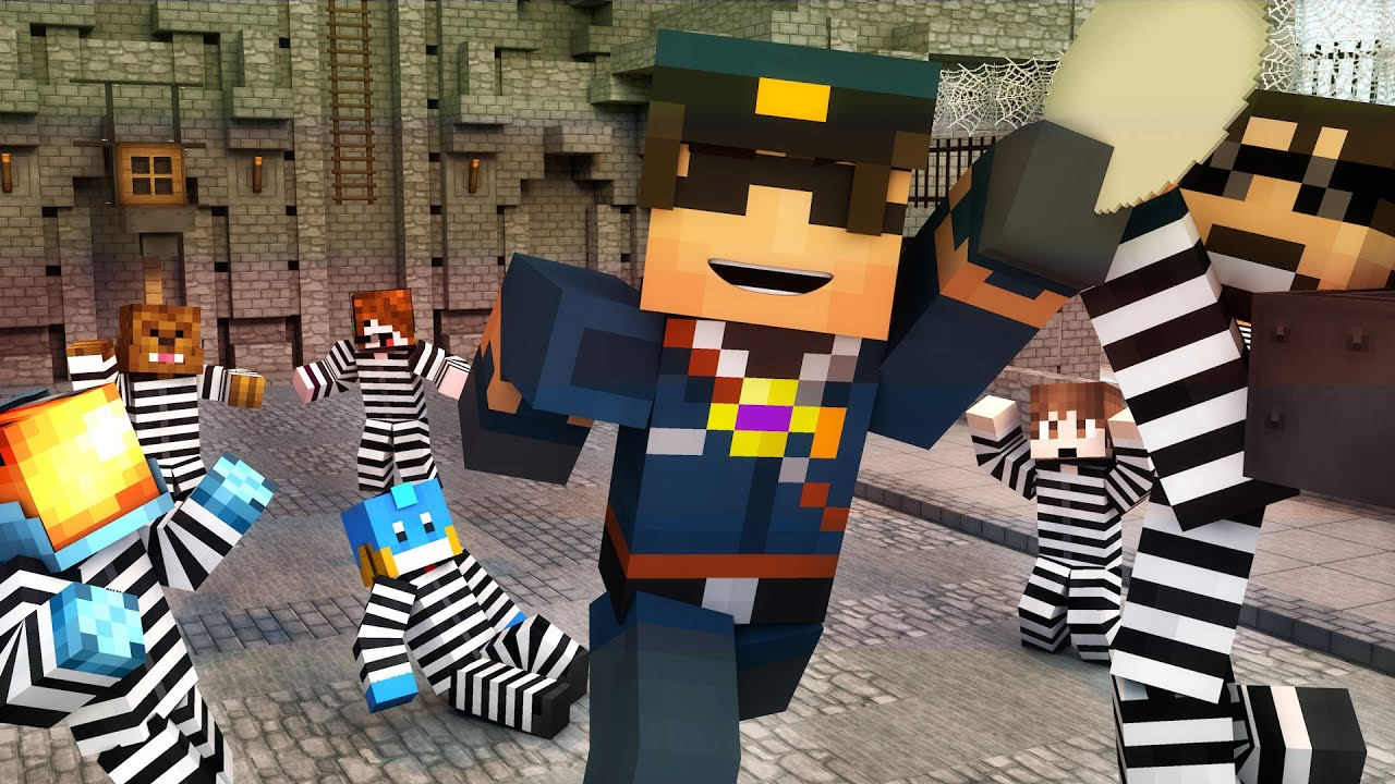 Minecraft Mini-Game: COPS N ROBBERS! (TEAM CRAFTED REUNION?) /w Facecam