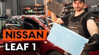 Montage Filtre d'Habitacle NISSAN LEAF : vidéo gratuit