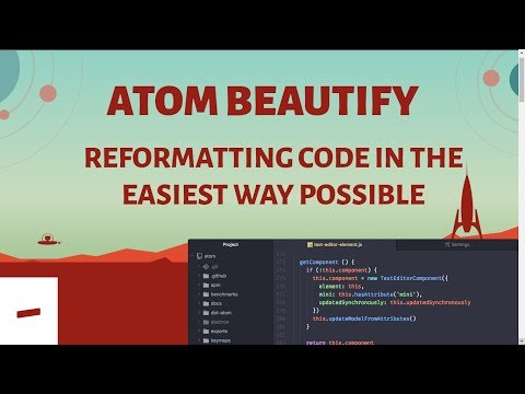 Atom Beautify For Code Reformatting