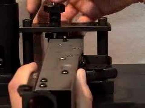 Pressing rear trunnion rivets Build your own AK AK47