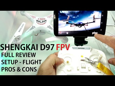 SHENGKAI D97 FPV QuadCopter Drone Review (SYMA X5C/SW Killer?) - Setup, Flight Test, Pros & Cons