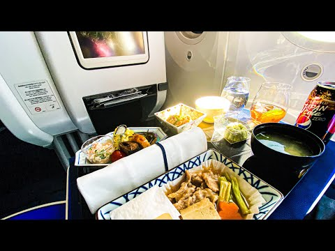 Flying to Japan in an empty Dreamliner   ANA Business Class   Taipei - Tokyo   Boeing 787-8   REVIEW