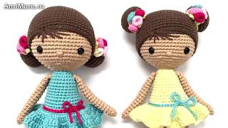 Амигуруми: схема Куколка Хлоя. Игрушки вязанные крючком.