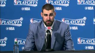 Raptors Playoff Post Game: Jonas Valanciunas - April 18, 2016