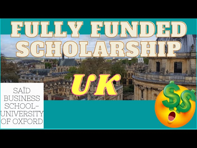 Skoll MBA Scholarship at Saïd Business School | Scholarships for international students