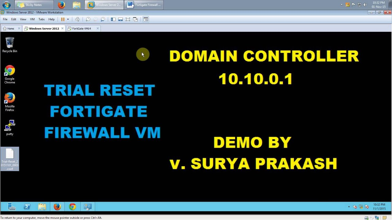 Fortigate Firewall VM - Reset 14 days Trial Period without losing  Configuration