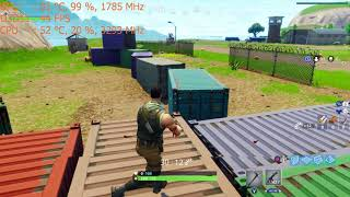 Fortnite on the Nvidia GT 1030 graphics card: PC 900p Epic, Intel i5 2400