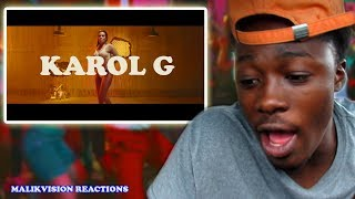 KAROL G REACTION! Karol G - Mi Cama | 2018 LATIN REGGAETON REACTION