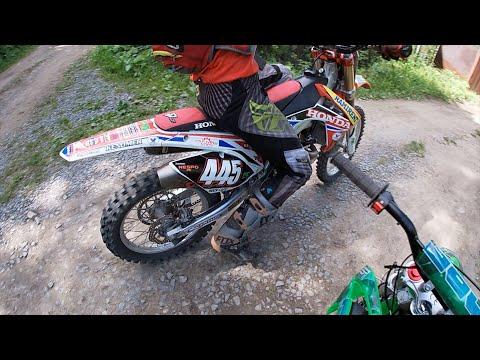 Покатушки На Питбайке По Лесу с Honda CRF 250 Часть 1 [GoPro]