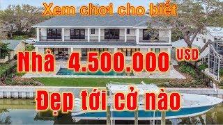 Xem chơi cho biết -  Nhà 4 triệu rưỡi USD ở Mỹ đẹp tới cở nào (Vlog 159)