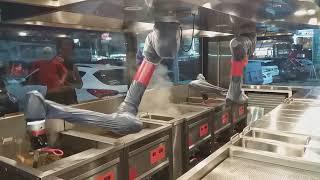 [고효율 업소용 튀김기] 로봇 튀김기 시연 - 두성기업