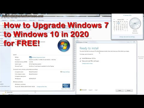 Windows 7 FREE Upgrade to Windows 10 in 2020, How to Guide