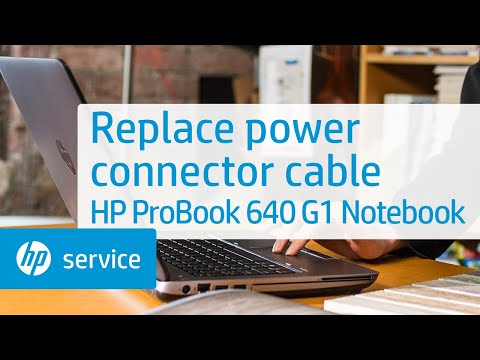 Replace the power connector cable | HP ProBook 640 G1 Notebook | HP