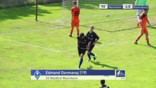 A-Junioren - SV Waldhof Mannheim vs. FV Ravensburg 4:0 - Edmand Osnmanaj