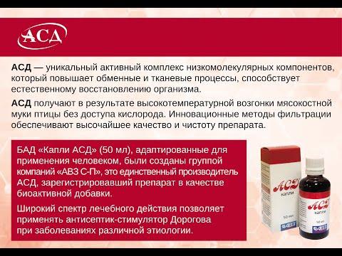 АСД-2 капли для человека. Способы применения и дозы.