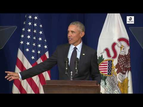 Former Pres. Obama receives ethics awards from University of Illinois| ABC News