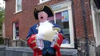 TOWN CRIER, NORFOLK, ENGLAND...TRAVEL, CULTURE.....