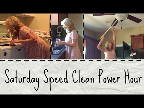 Saturday Speed Clean Power Hour | Clean With Me | Stay At Home Mom of Three
