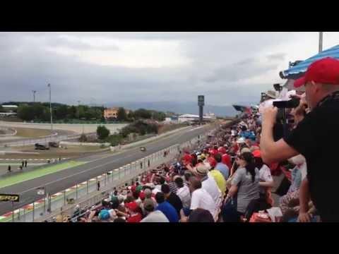 Formula 1 Barcelona 2014 start. First lap, first corner!