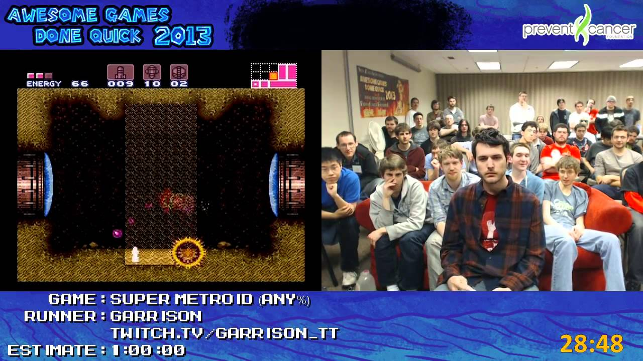 Super Metroid Speed Run In 0 49 35 By Garrison Live For
