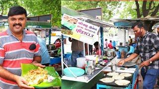 20 ரூபாய்க்கு வயிறார பசியாற்றும் கோவை மனிதர்   ₹50 chicken leaf parotta