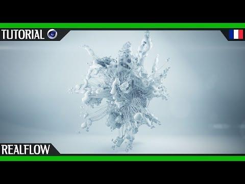 Mograph avec Realflow Cinema 4D | Thinking Particles | Tuto débutant Francais motion design