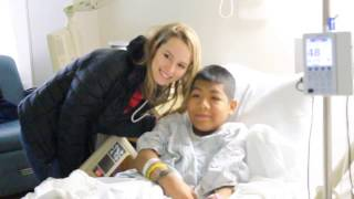 Bridget Mendler visits Saint Peter's Children's Hospital