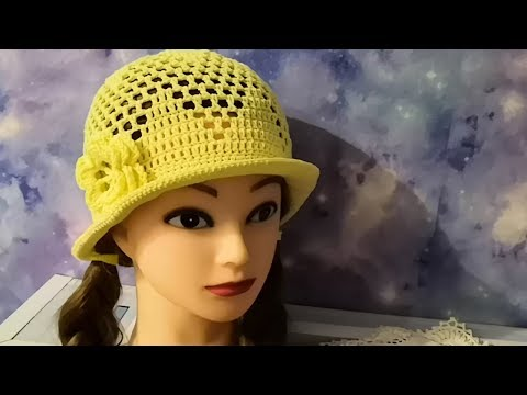 Крючком летние женские шапочки