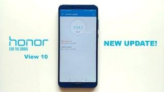 Honor View 10 new firmware update!