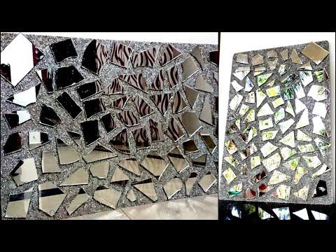 Broken Mirror Wall Decor Mirror Frame Diy Wall Ideas Youtube