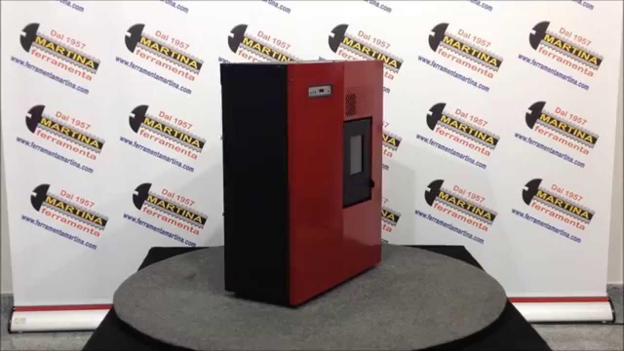 stufa a pellet punto fuoco camilla rosso youtube. Black Bedroom Furniture Sets. Home Design Ideas