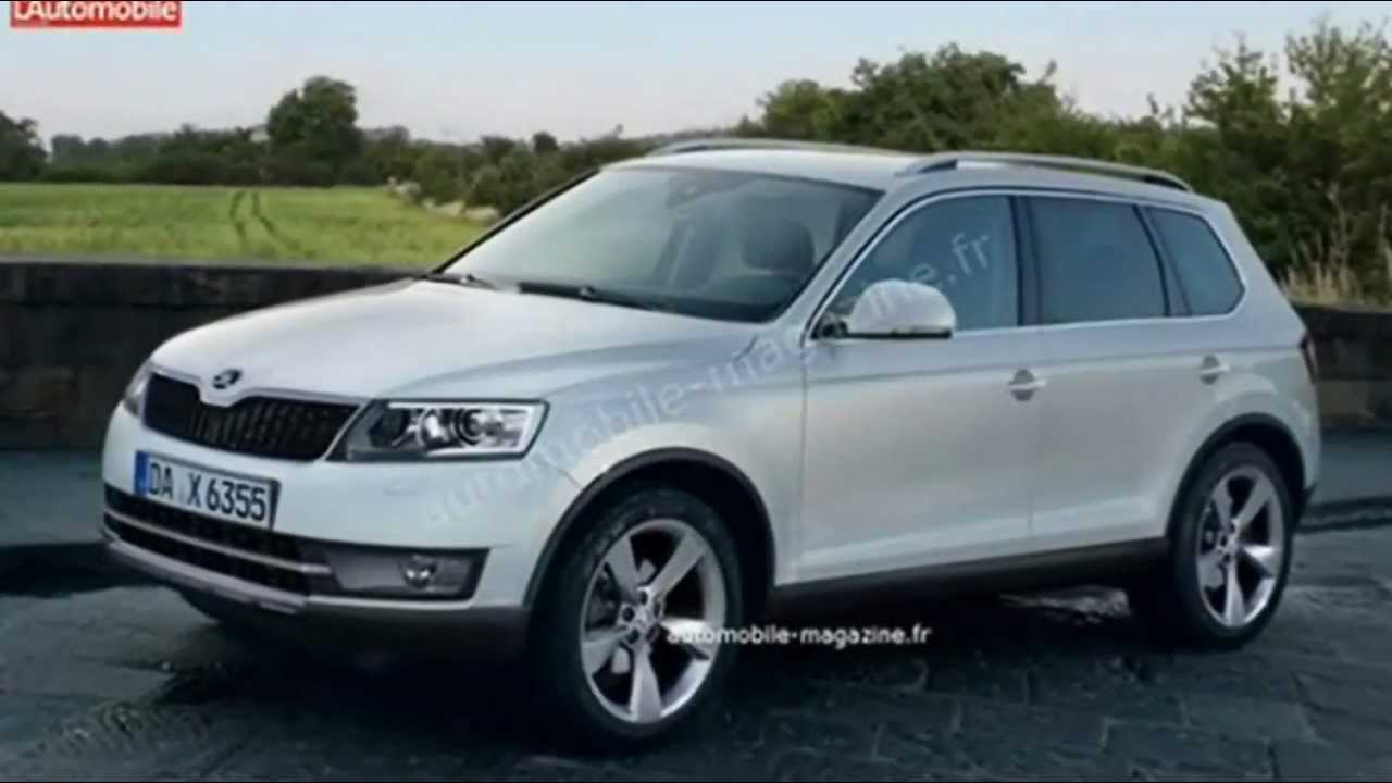 preview 2015 skoda snowman grand yeti suv volkswagen touareg youtube. Black Bedroom Furniture Sets. Home Design Ideas