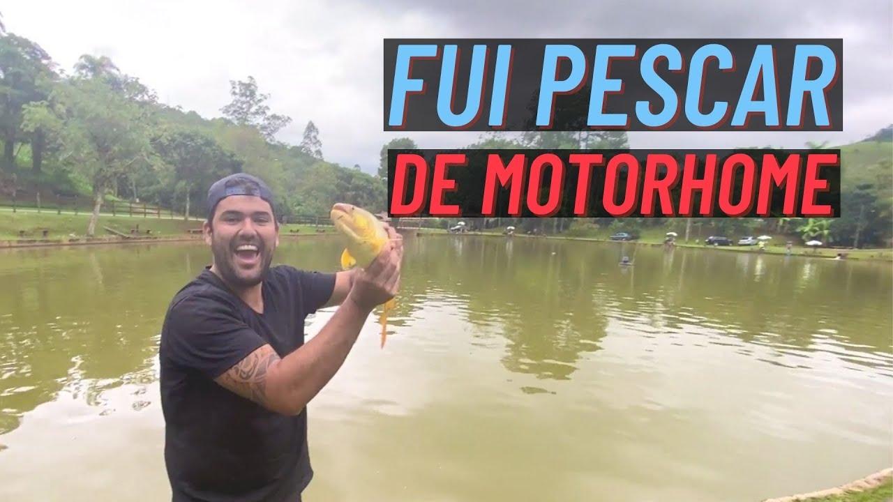 Fiquei sozinho no Motorhome e fui Pescar | Paz, Amor e Viagem | Van life