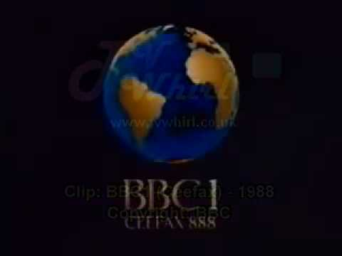 BBC1 1988 (The COW globe... with subtitles!)