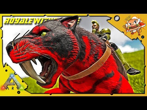 Cruising For Kitty! Taming And Breeding Max Level Sabers! - Ark: Survival Evolved [Cluster E61]