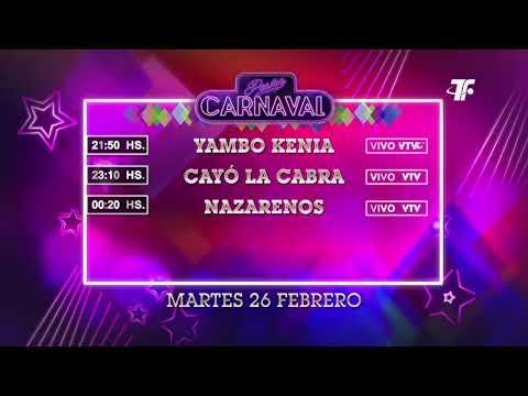 Agenda Carnaval – Martes 26 de Febrero