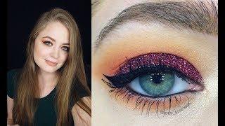 Новогодний макияж: красные блестки // видео-урок пошагово