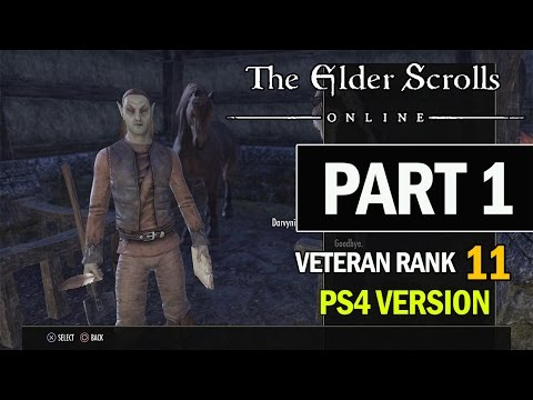 The Elder Scrolls Online PS4 Walkthrough Part 1 - Let's Play Review Gameplay