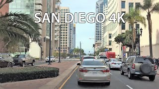 Driving Downtown - San Diego 4K - USA