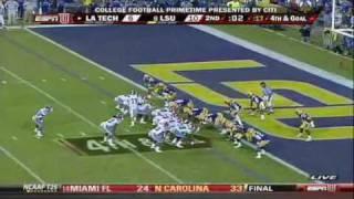 La Tech Offense HIghlights vs LSU Football 09