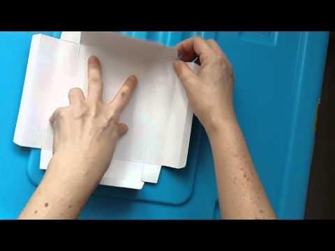Cara melipat kotak coklat