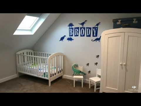 Dormer loft conversion kids bedroom