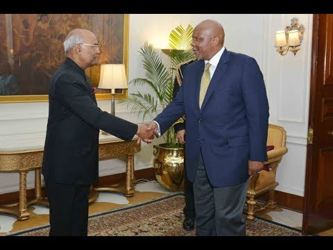 King Letsie III and Queen Masenate Mohato Seeiso of Lesotho called on President Kovind
