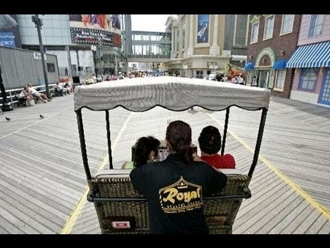 New Jersey - Royal Rolling Chairs in Atlantic city Walkway New Jersey - Tourism USA