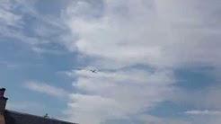 RAF low flying over Yarrow Feus Scottish Borders